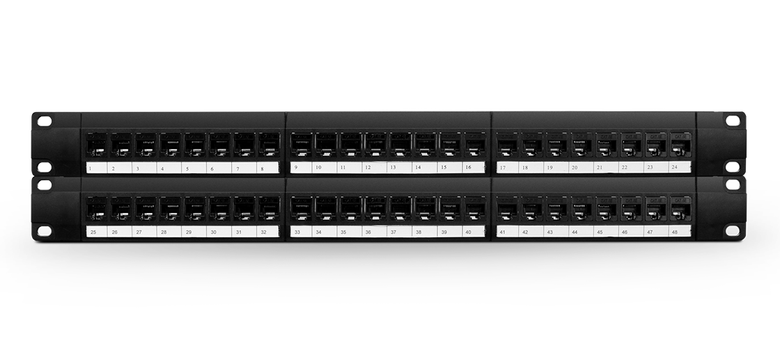 Cat6 Patch Panels  48 Ports Cat6 UTP Feed-Through Patch Panel