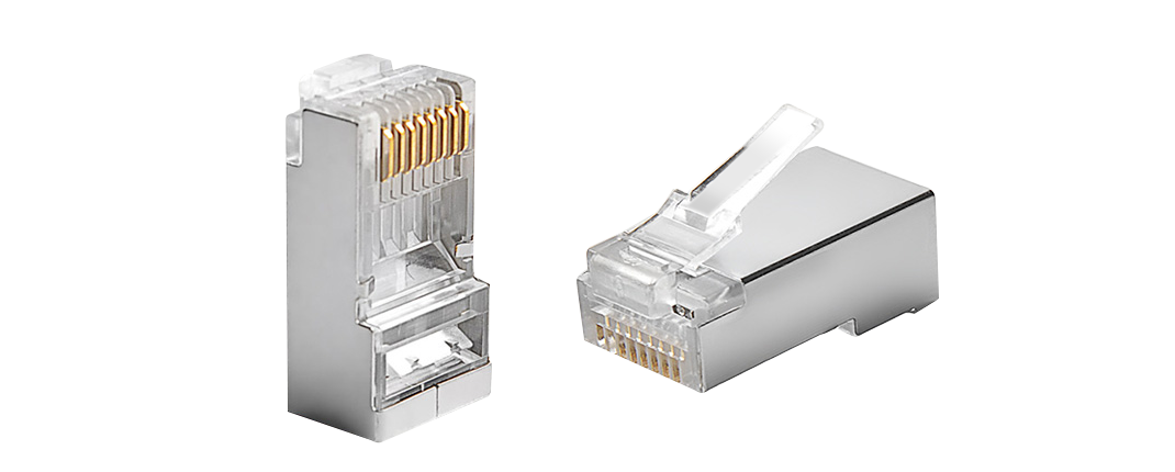 Connectors/Plugs  Cat5e Shielded RJ45 (8P8C) Modular Plug Designed for Cabling System