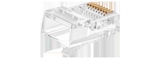 Коннекторы RJ-45(8P8C)  Ударопрочный Материал PC