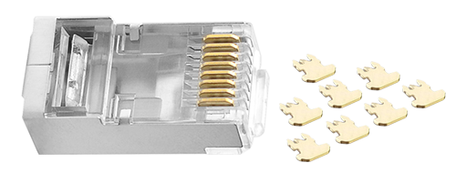 Connectors/Plugs Trigeminal Chip & 50 Microinches Gold-plated Contacts