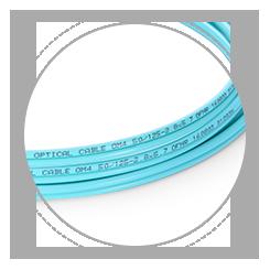 OM4 50/125 Multimode Drucken hilft, verschiedene Kabel zu differenzieren und identifizieren