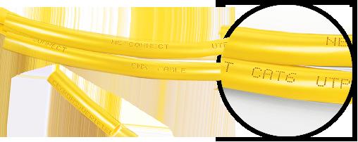Cables de red cat6 1. Material de la chaqueta de PVC de alta calidad