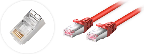 Cables de red utp cat6  4. Diseño de conectores enchapados en oro