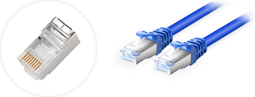 Cat6a Patchkabel  4. Vergoldete Steckverbinder Design
