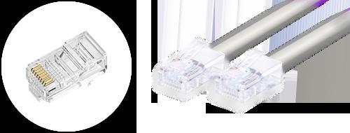 Cables de red cat5e 4. Diseño de conectores enchapados en oro