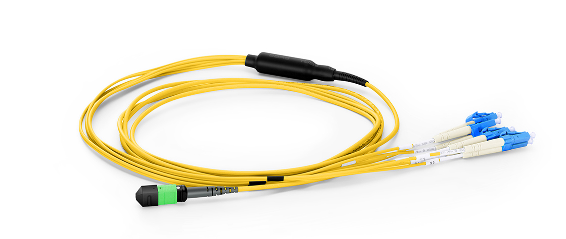 MTP/MPO-LC LSZH Harness Cables Quality Connectors for High-Density Fiber Patching