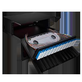 FHD Rack-Gehäuse LWL-Gehäuse für die Lagerung von gespleißten Faserpigtails