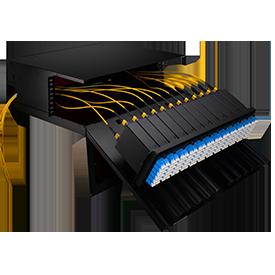 FHD Rack-Gehäuse LWL-Gehäuse für High-Density MTP-Verkabelungsmanagement