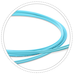 Armoured Patch Cables Max bending radius due to the excellent elasticity metallic tube.