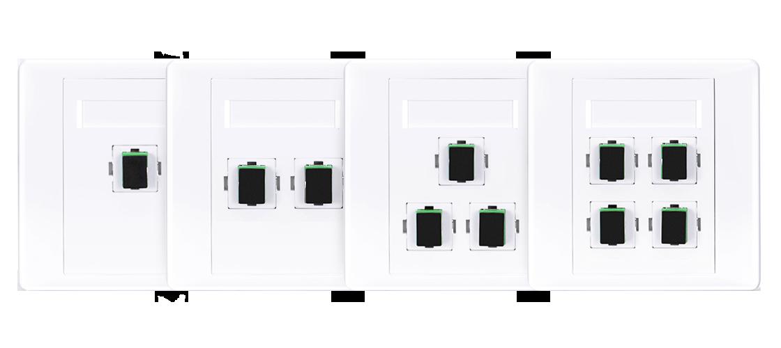 Placas de pared de fibra óptica Placa de pared de fibra óptica