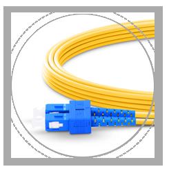 Cable fibra óptica OS2 monomodo dúplex 9/125 2.0mm bota de cable, proporciona máxima protección