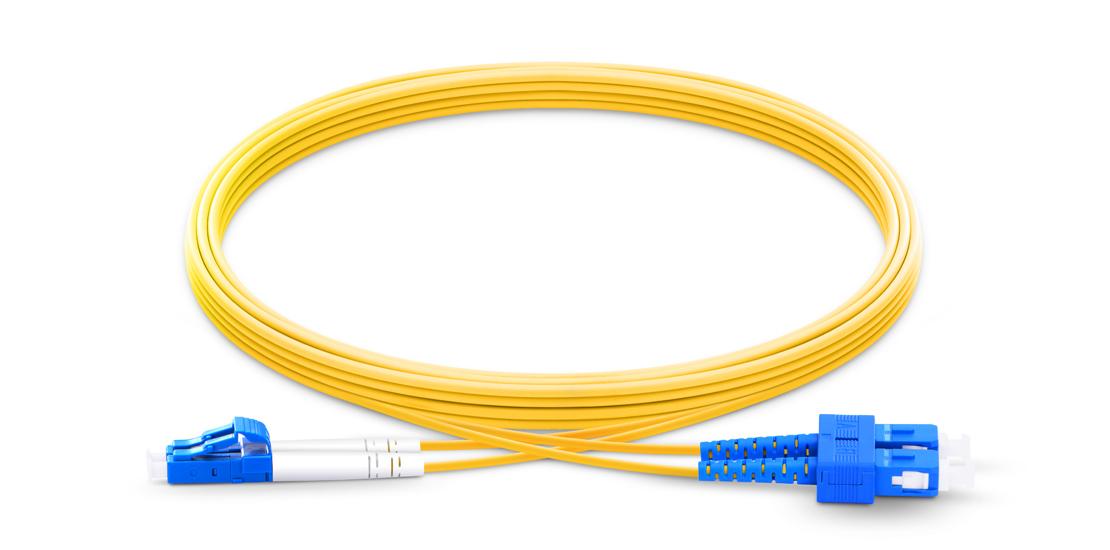 OS2 9/125 SMF Duplex  LWL-Kabel, Industry Standard Flammability Rating OFNR (Riser) Jacket