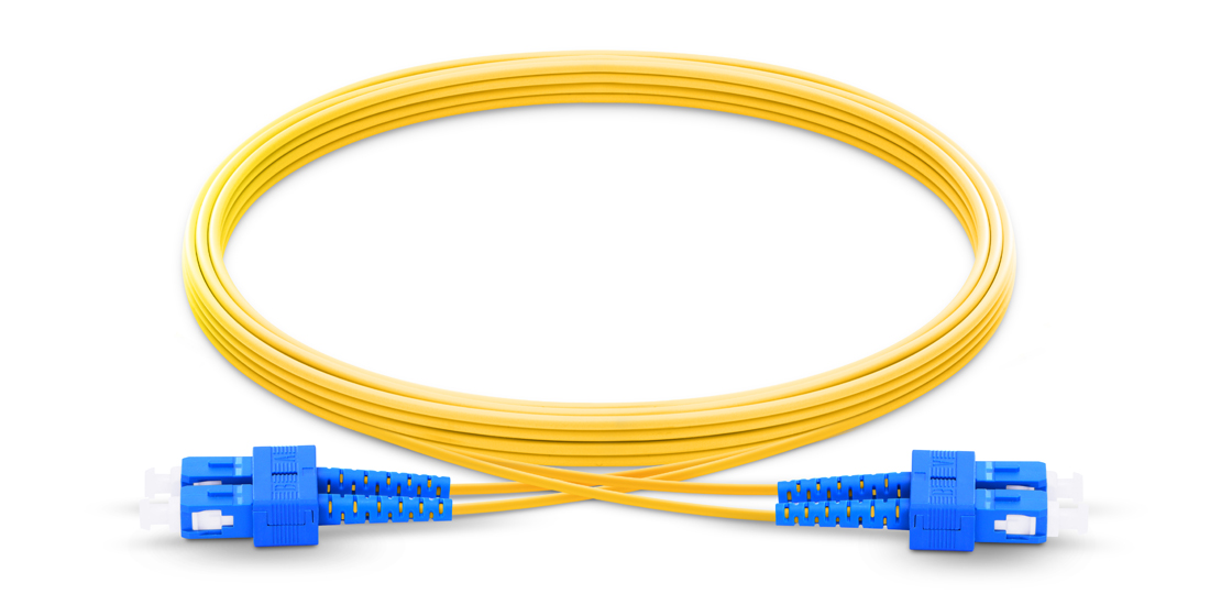 OS2 9/125 Single Mode Duplex  Industry Standard Flammability Rating OFNP (Plenum) Jacket Fiber Optic Cable