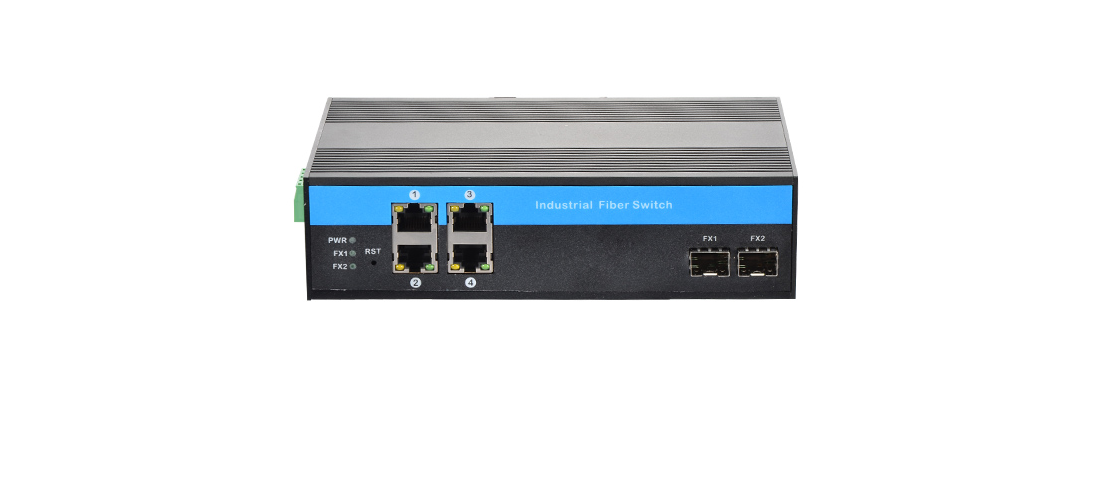 IndustrialMediaConverters  10/100/1000Base 4RJ45+1000Base 2SFP Ports Industrial Media Converter
