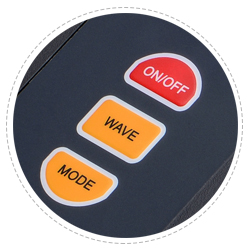 Fibre Optic Light Source Dustproof Button Design