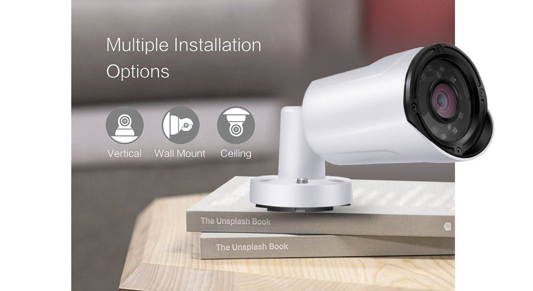 Surveillance Camera  Multi-ways To Install
