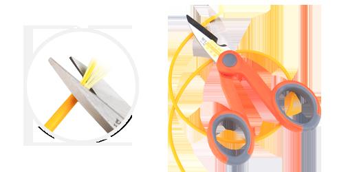 Kits d'Outillage à Fibre Optique  Ciseaux à Kevlar pour Câbles à Fibre Optique