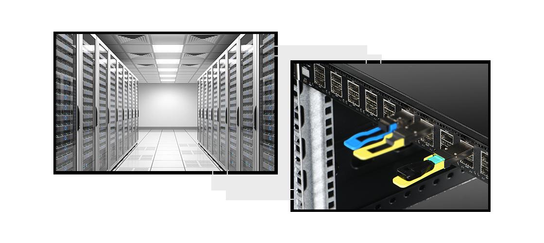 Loopbacks LC/SC Aplicación en el centro de datos