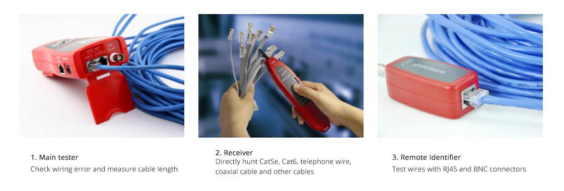 Тестеры для Сетевого Кабеля Применение кабельного тестера & проводного трекера