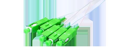 Blockless PLC Splitter 1x4 Splitting, SC/APC Connector