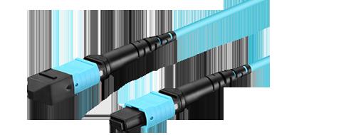 Maßgeschneiderte MTP/MPO LWL-Patchkabel  1. Push-On der Multi-Faser-Termination