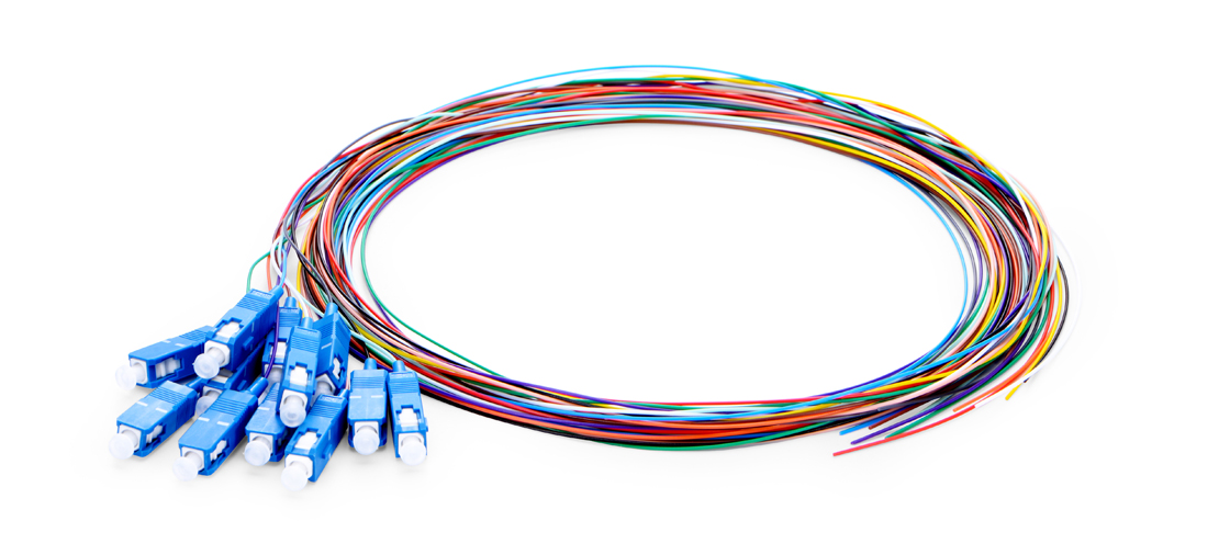 6F-24F Colour-Coded Fibre Pigtail  Fibre Optic Pigtail - Ideal for Splicing