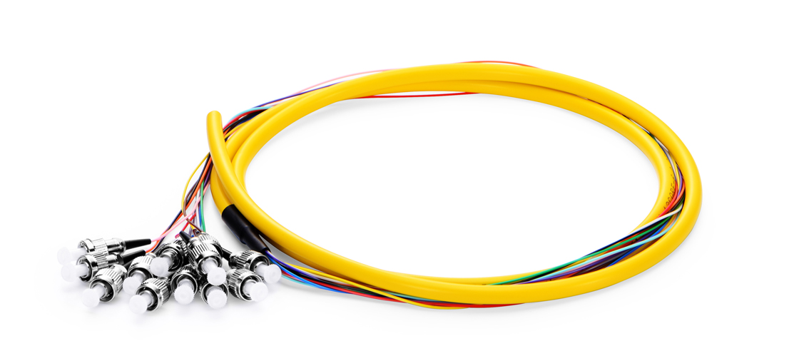 6F-24F Color-Coded Fiber Pigtail  Fiber Optic Pigtail - Ideal for Splicing