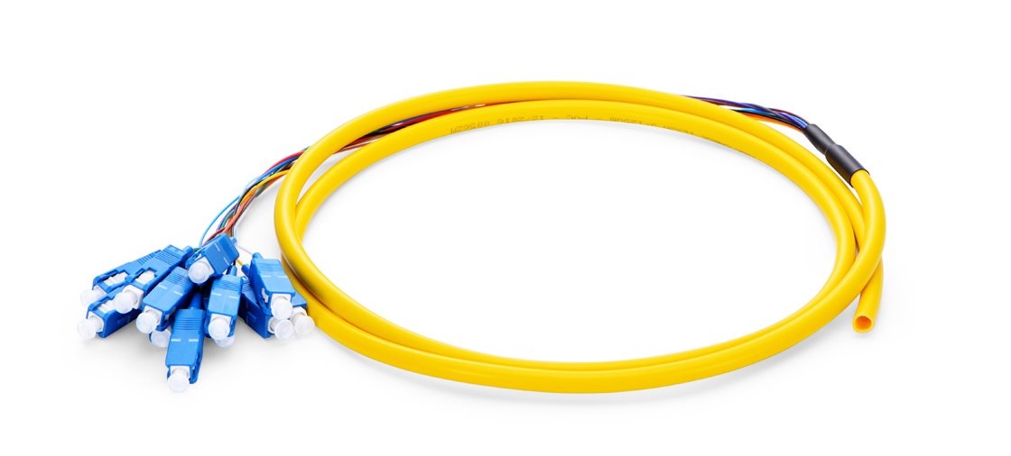 Pigtails 12 fibras de colores  Pigtail de fibra óptica - Ideal para empalme
