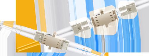 Оптические адаптеры/соединители  Простое подключение двух оптоволоконных кабелей