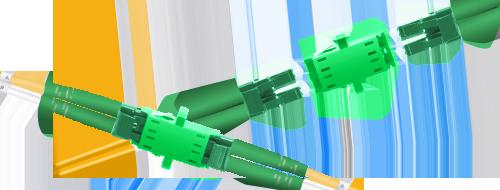 Оптические адаптеры/соединители  Simply Connecting Two Fiber Optic Cables