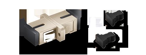 Adaptateurs/Coupleurs Fibres Optiques Bonne Protection avec Capuchon Anti-poussière