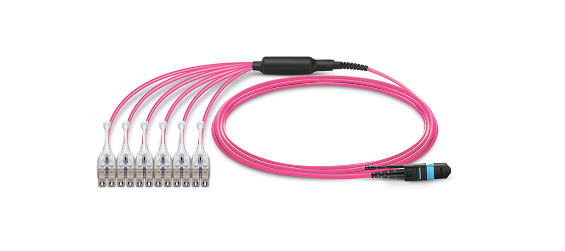 MTP-LC Harness Cables Improved Designed Fiber Patch Cables for High-Density Applications