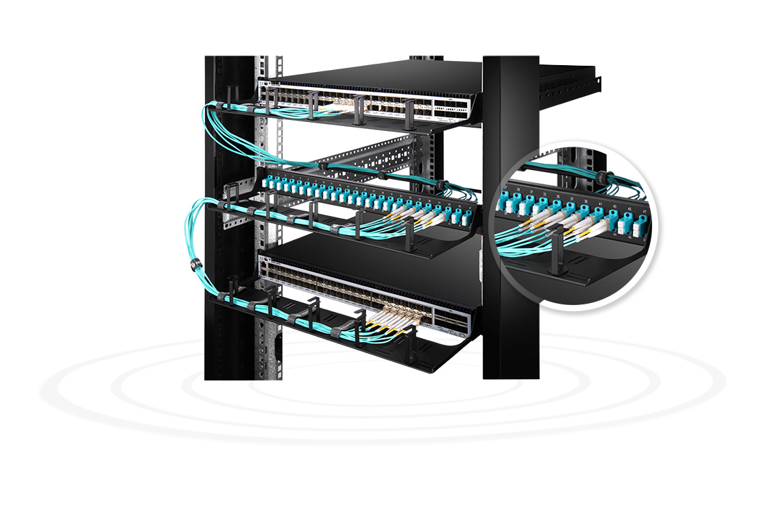 "FHU 1U Patch Panels  Small Device to High-effective Management- 48 Fibres 1U 19"" Fibre Patch Panel"