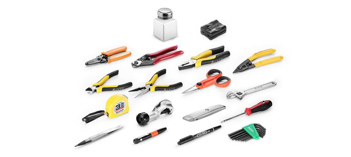 Kits d'Outillage à Fibre Optique  Combinaison Professionnelle