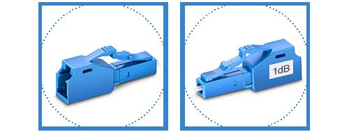 Atenuador de Fibra Óptica  2. Cáscara duradera de plástico para protección permanente