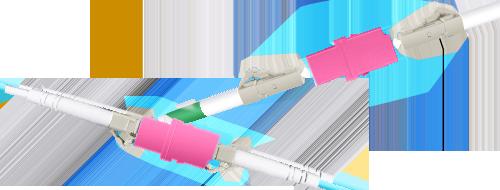 LWL-Adapter/Kupplung  Zwei LWL-Patchkabel einfach verbinden