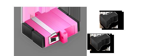 LWL-Adapter Guter Schutz mit Staubkappe