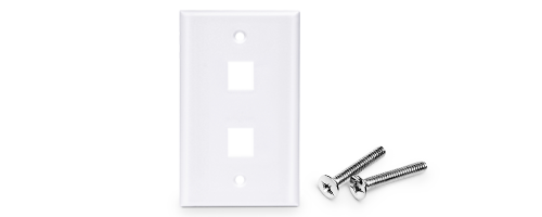Network Wall Plates Economical Flush Mount Housing