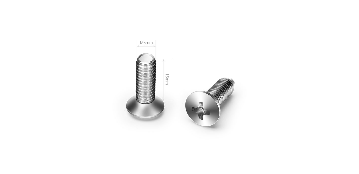 Shelves & Accessories  Dimensions of M5 Screw and Nut
