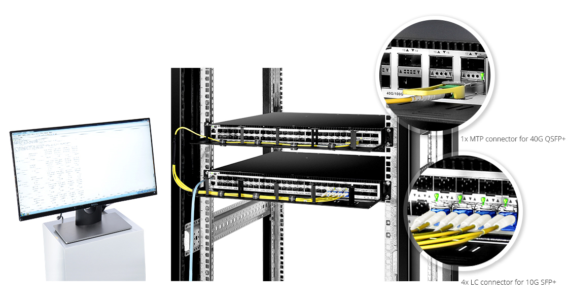 MTP/MPO-LC LSZH Harness Cables  Lower Insertion Loss & Higher Performance