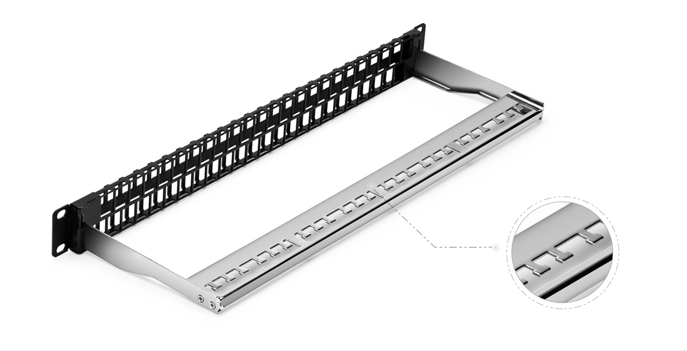 Blank Patch Panels  Stainless Steel Cable Manager