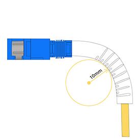低曲げ損失光ファイバケーブル 10mm最小曲げ直径