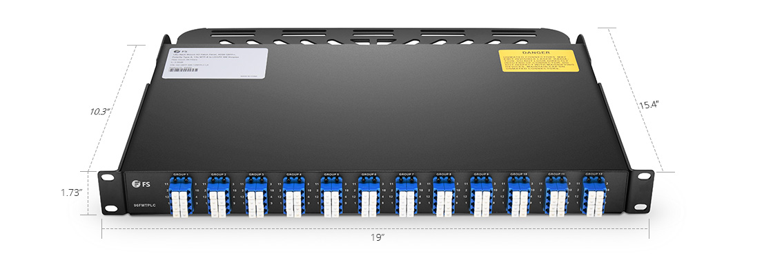 MTP/MPO-LC Patch Panels  Ultraslimline 1U Rack Space - Up to 96 Fibers
