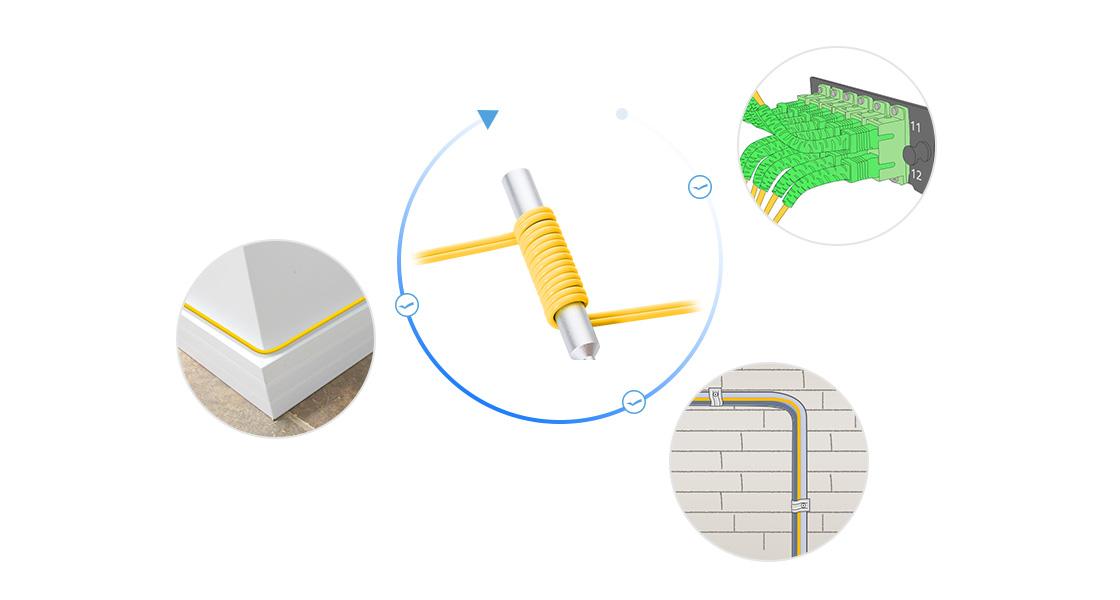 Bend Insensitive Патч-корды     Инновационный Дизайн для Прокладки Кабелей Меньшего Размера