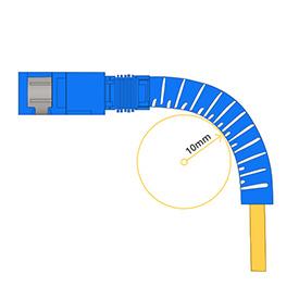Cables insensibles a la curvatura Diámetro de curvatura mínimo de 10mm