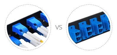 Paneles de conexión FHU 1U  Internals precisa y puertos horizontal