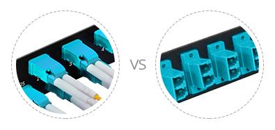 Paneles de adaptadores FHU 1U  Internals precisa y puertos horizontal