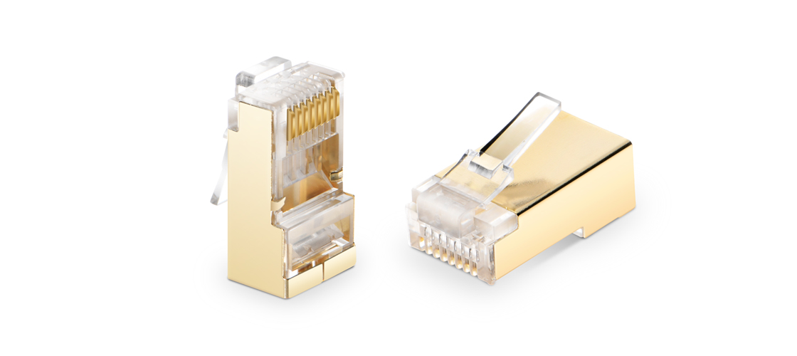 Connectors/Plugs  Cat6a Shielded RJ45 (8P8C) Modular Plug Designed for Cabling System