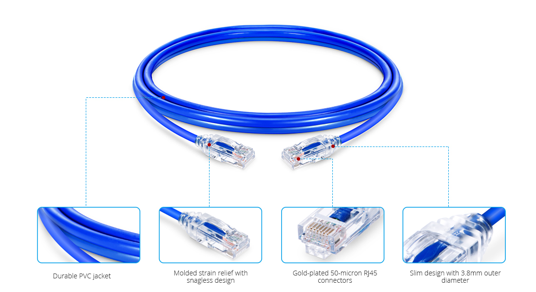 Ultra Thin Ethernet Cables