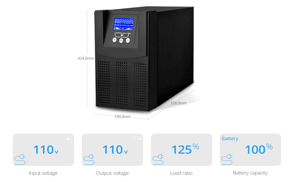 UPS Power Supply  On-Line Double-Conversion UPS